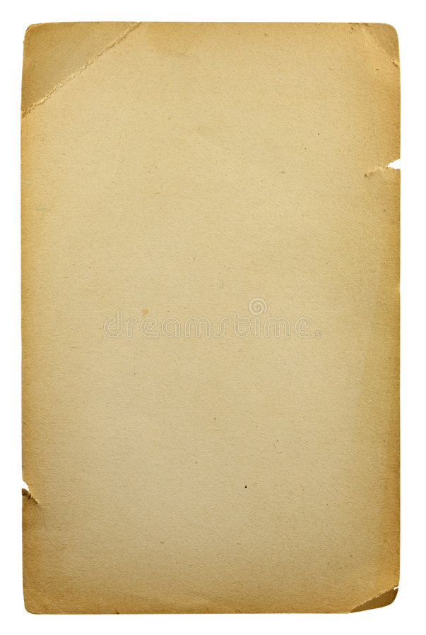 Free Old Blank Sheet Of Paper Royalty Free Stock Image - 5817466