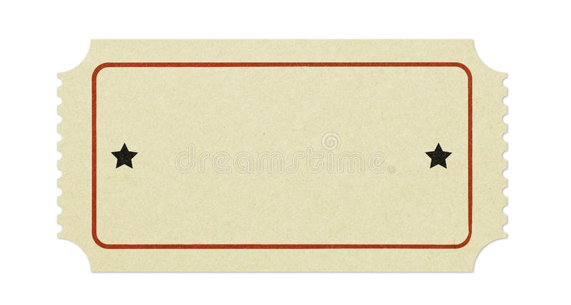 Old blank ticket stock images