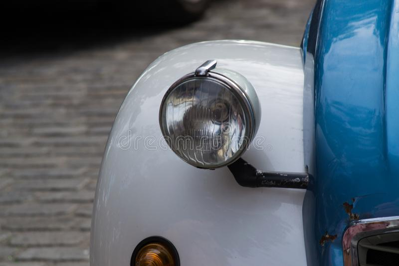 Old blue car light royalty free stock images