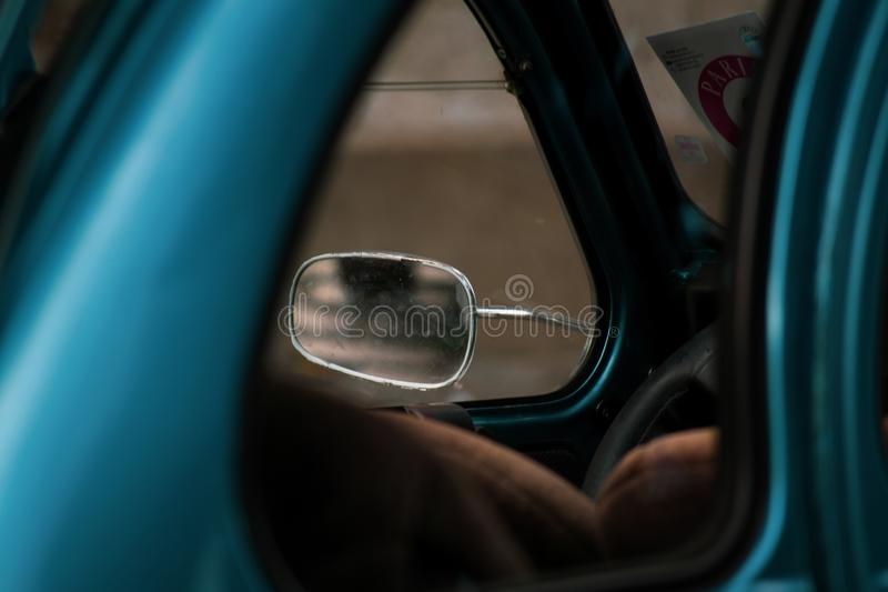 Old blue car light stock images