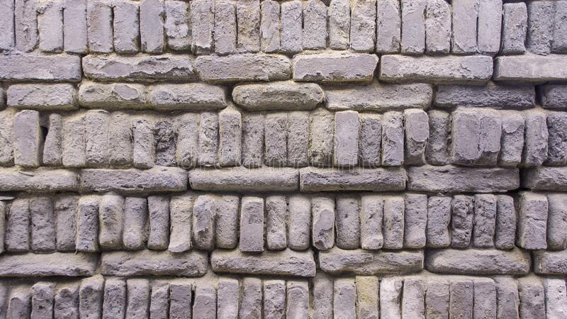 Old blue gray brick wall texture background. royalty free stock photos