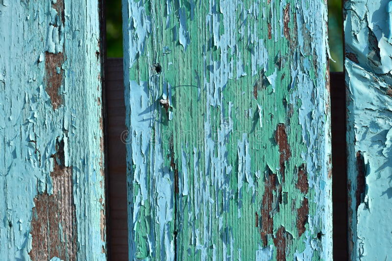 Old blue and green wooden background. stock photography