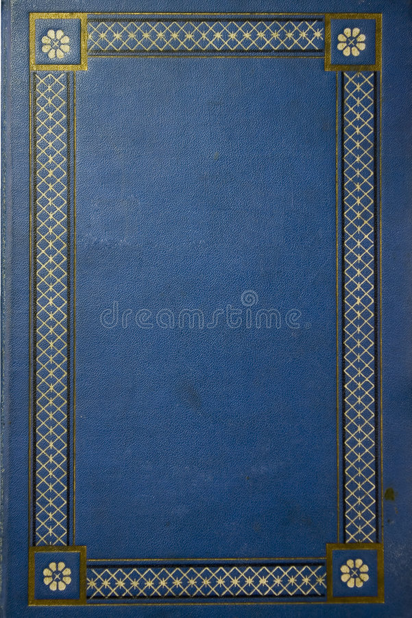 Old blue grunge book stock photography