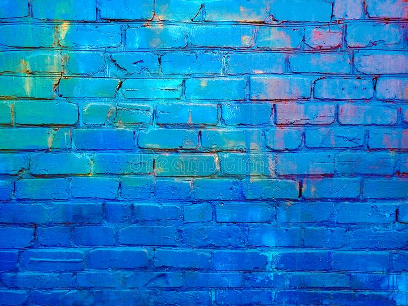 Close up image of painted brick wall surface stock images