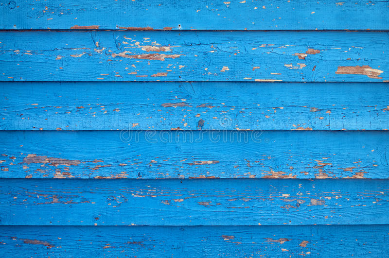 Old blue painted wooden wall royalty free stock images