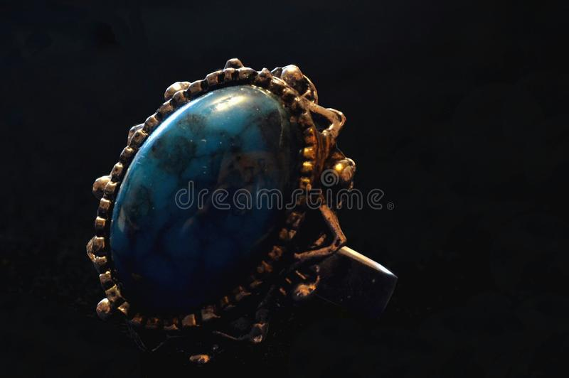 Old blue ring royalty free stock images