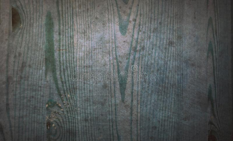 Old blue stained scratched wood floor board grunge pattern surface abstract texture background royalty free stock photos