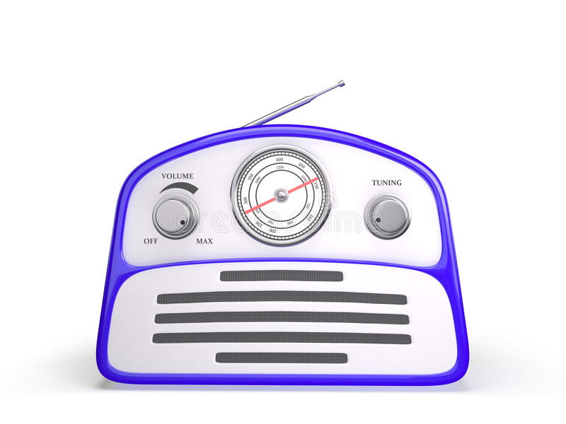 Old blue vintage retro style radio receiver royalty free stock image