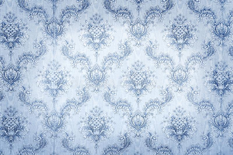 Old blue wallpaper. For texture or background royalty free stock image