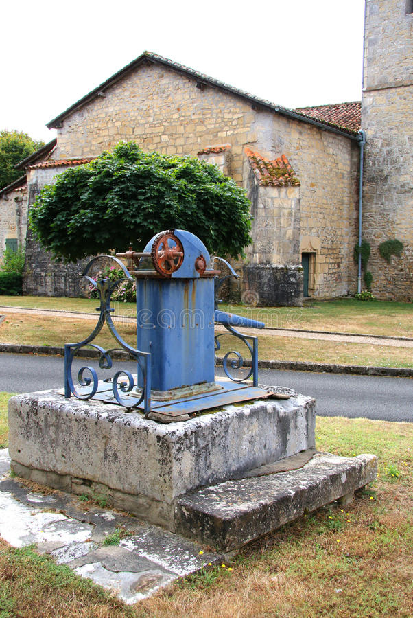 Download Old Blue Water Pump Stock Photo - Image: 77421295