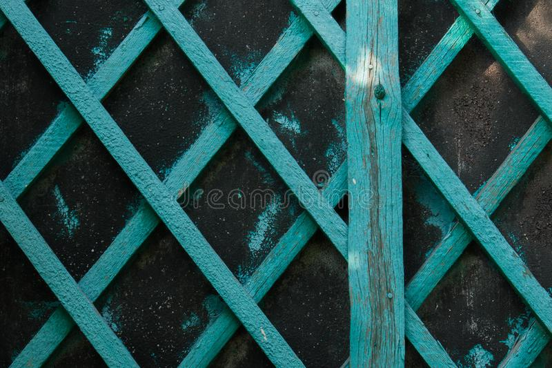 Old blue wood geometric pattern royalty free stock photography