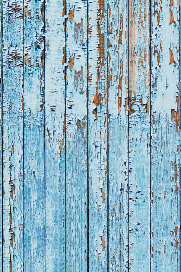 Old blue wood plank background. stock photo
