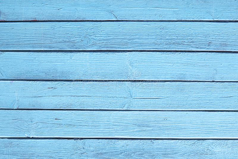 The old blue wood texture with natural patterns stock photo