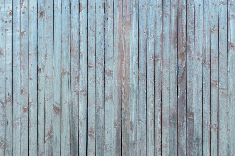 Old blue wooden vertical stripes background royalty free stock photography
