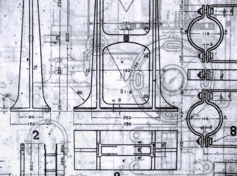 Old Blueprints stock photo. Image of design, vintage, blueprint ...