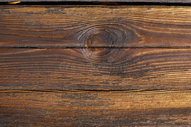 Old board with knot. stock photo