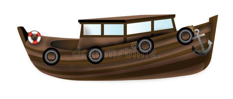 Old boat royalty free illustration