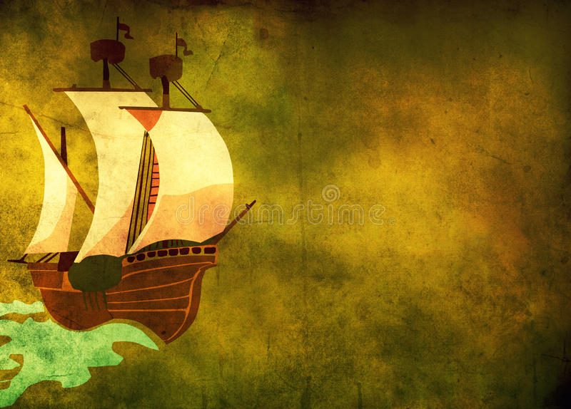 Download Old boat stock illustration. Illustration of galley, ancient - 18205449