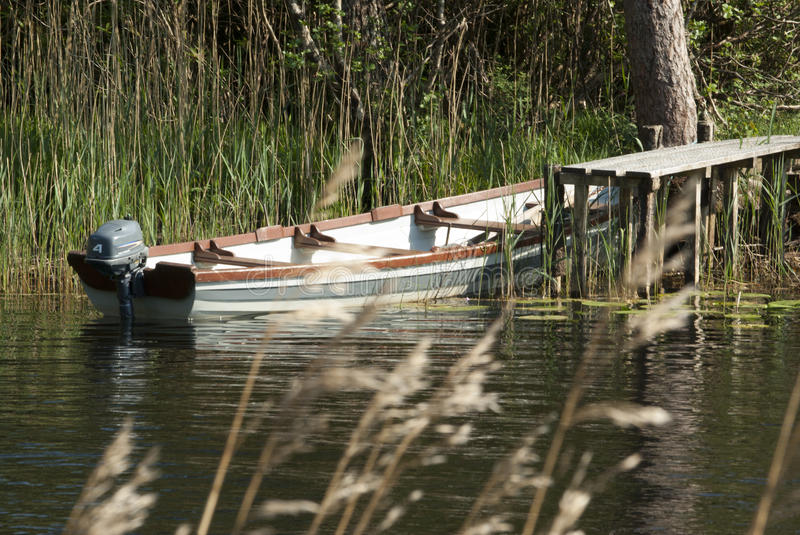 Download Old Boat stock image. Image of wooden, lake, country - 25546635