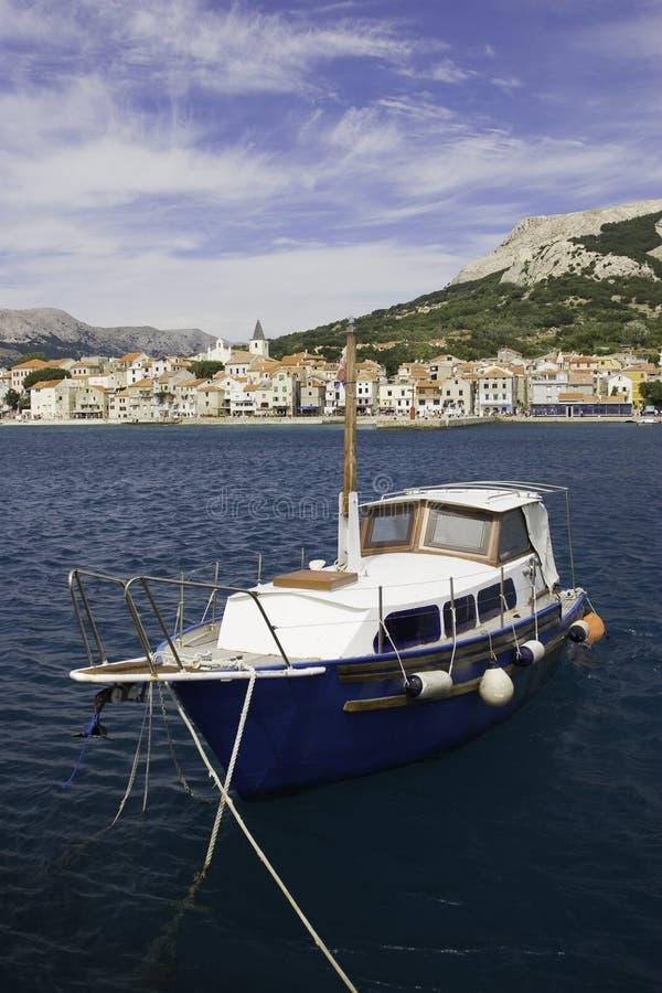 Old boat at Baska, Croatia royalty free stock image