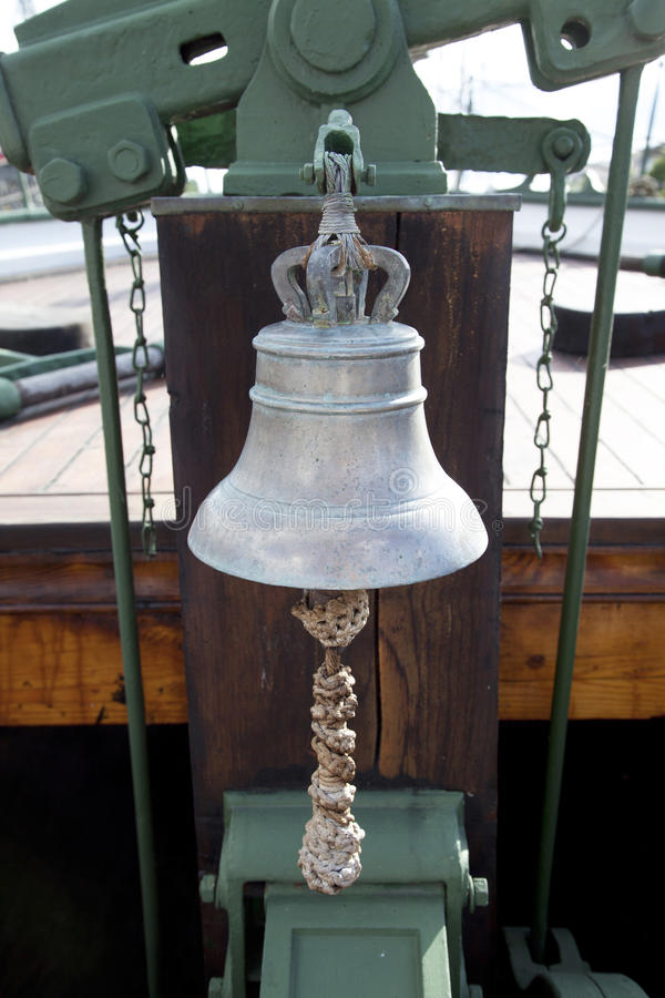 Old boat bell royalty free stock photo