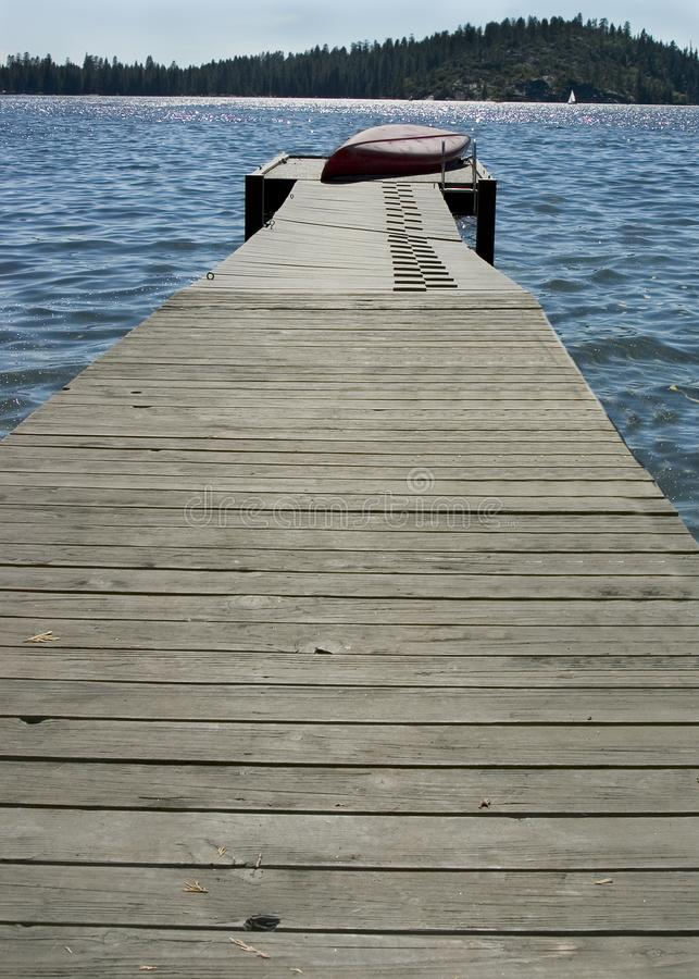 Old boat dock royalty free stock photo