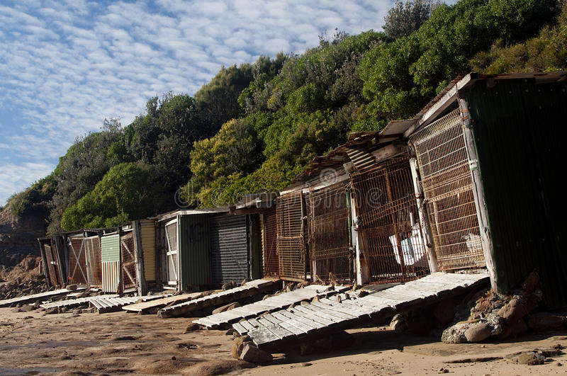 Old Boat Sheds 2 royalty free stock photography