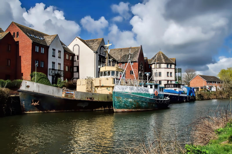 Old Boats At Exeter royalty free stock photos