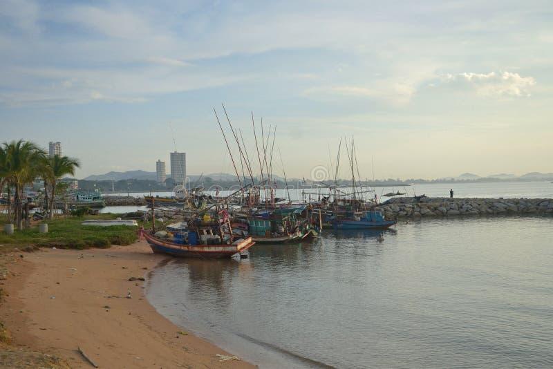 Old boats. In Ocean Marina, Pattaya, Thailand royalty free stock photo