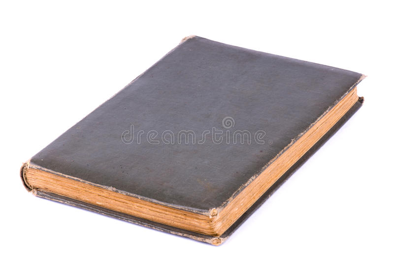 Old book. Cover with clipping path - isolated on white background royalty free stock photos