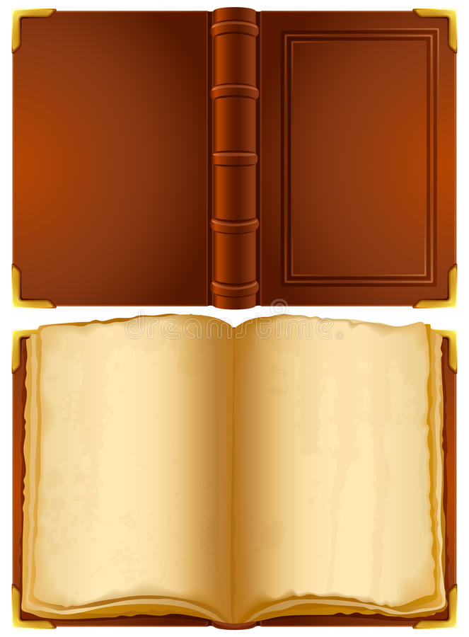 Old book. Vector illustration - open old book royalty free illustration