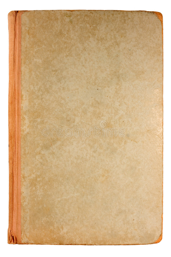 Old book. Old Antique book isolated on white stock photography