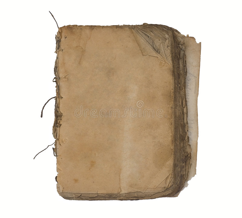 Old book with blank pages. Old book with blank shabby pages royalty free stock images