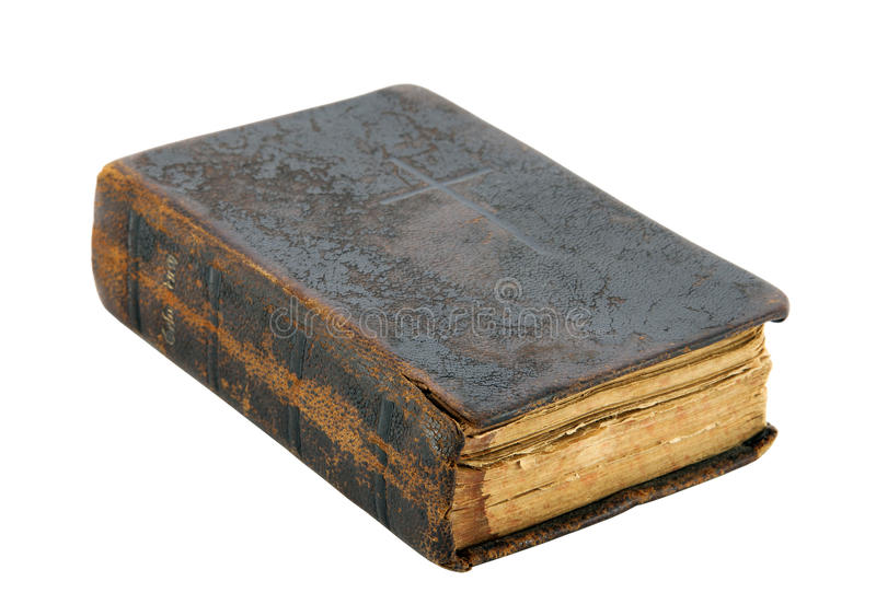 Old book with clipping path stock image