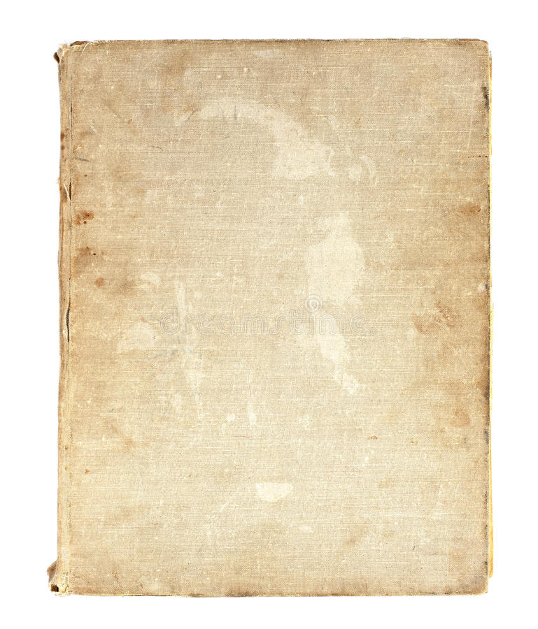 Old book in a cloth cover. On a white background stock photos