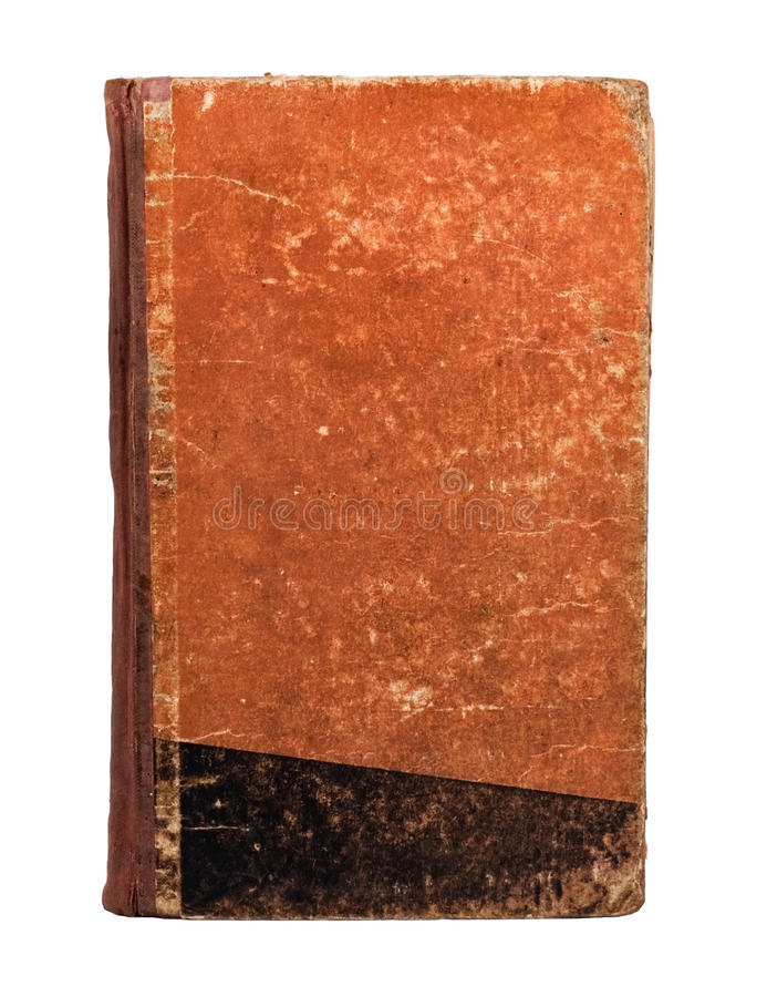 Old book cover stock photography