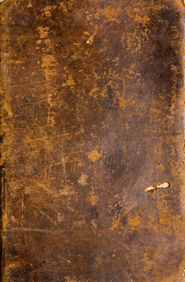 Old Book Cover. Texture of an antique book leather cover stock image