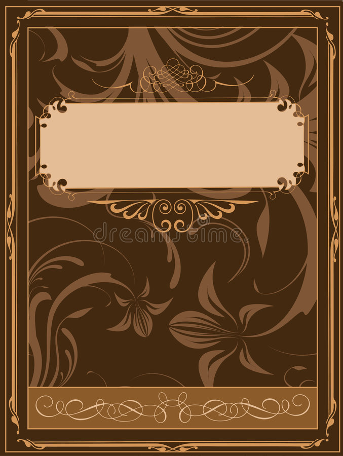 Vintage Style Book Cover : Old book cover stock vector illustration of document