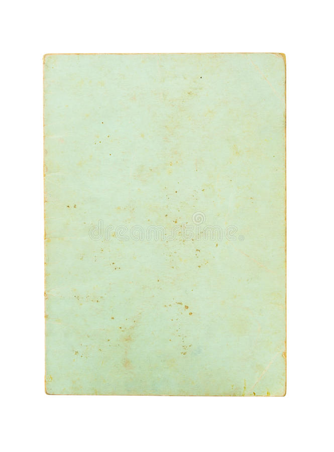 Old book cover isolated on white background stock image