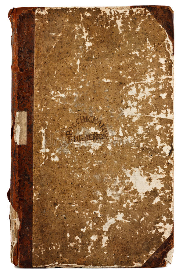 Old book cover. Texture off old shabby cardboard book cover 19th century stock photos