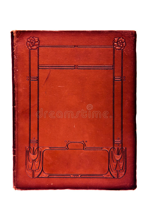 Old book cover. Very Old Book Cover over white background royalty free stock photography