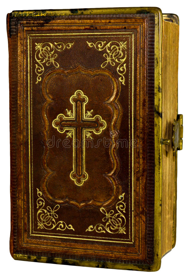 Old book with a cross royalty free stock photo
