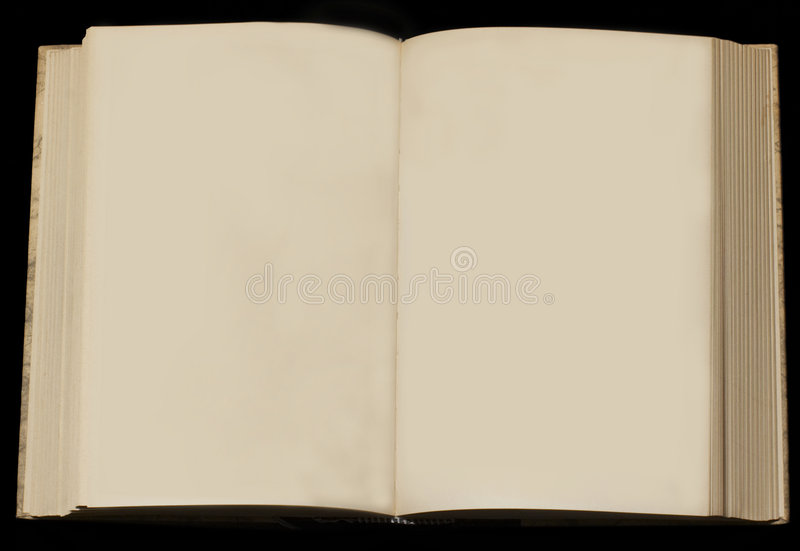 Old book with empty pages stock photography