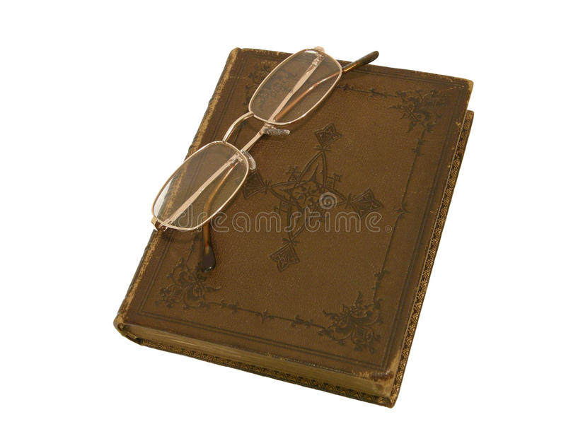 Download Old Book And Gold-rimmed Spectacles Stock Photo - Image: 17815376