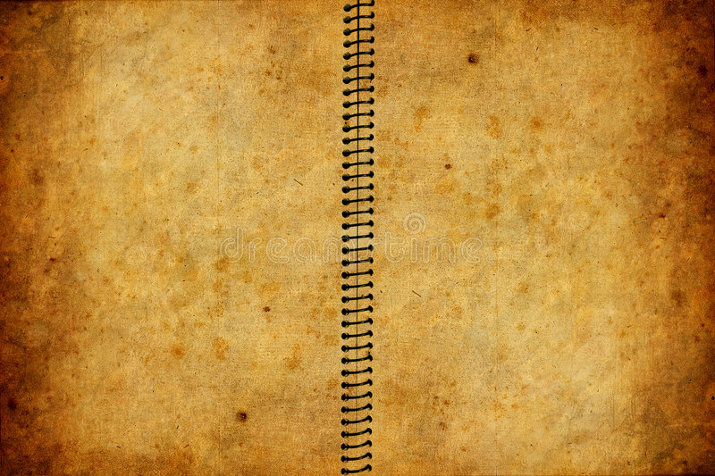 Old book with grunge texture royalty free illustration