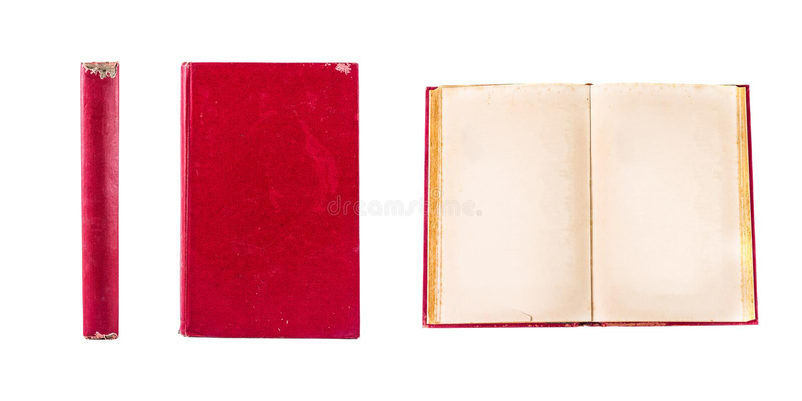 Old book isolated royalty free stock photo