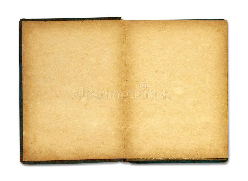 Download Old Book Isolated On White Background Stock Photo - Image of dark, brown: 25661764