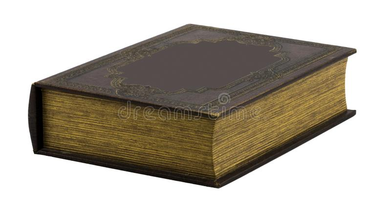Old book isolated on a white. Background royalty free stock photography