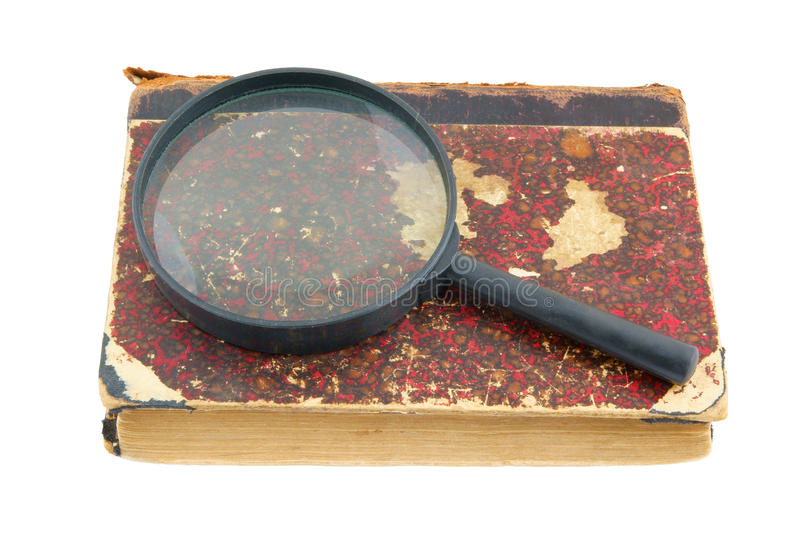 Download Old Book And Magnifying Glass Stock Image - Image: 17371275