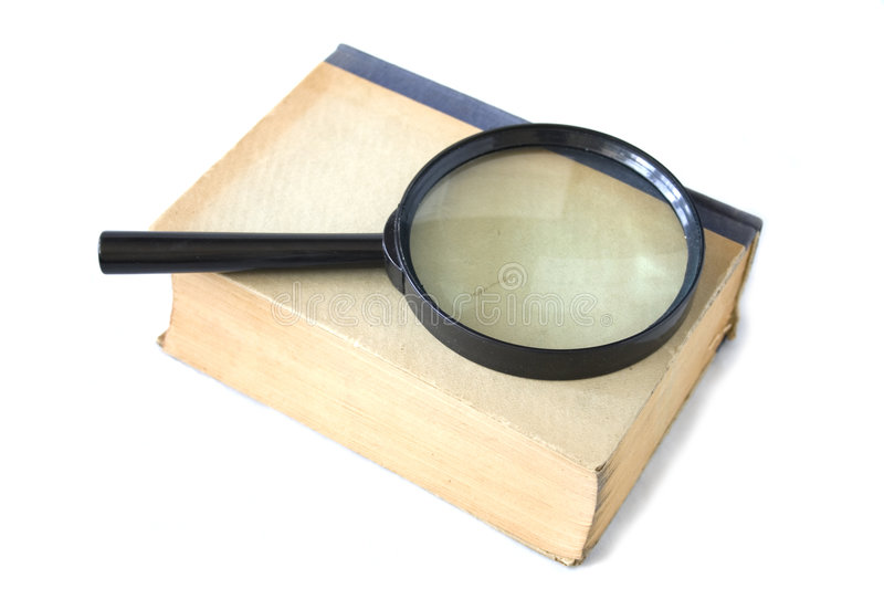 Download Old Book And Magnifying Glass Stock Image - Image: 6234395